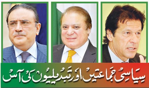 Siyasi Jamatien Aur Tabdelion Ki Aas
